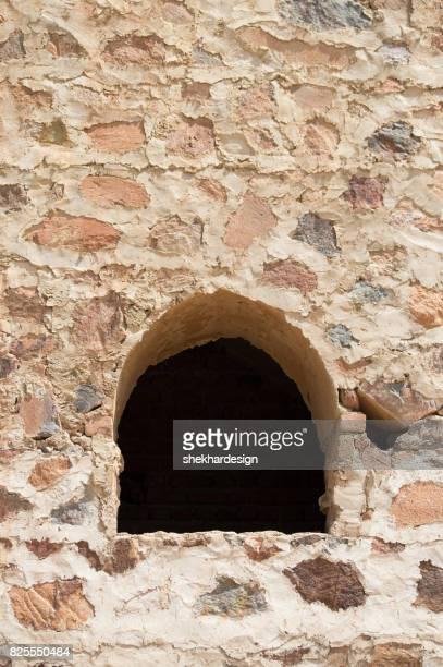 Small window on wall