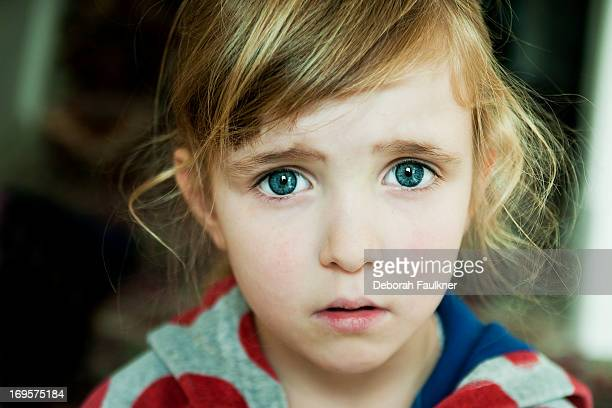 Small worried girl