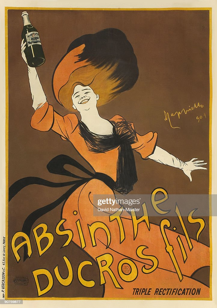 A smaller format version of Cappiello's famous poster for Absinthe Ducros
