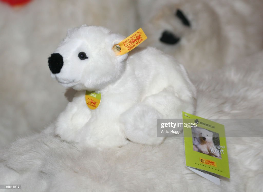 Smallest size Polar Bear during STEIFF launches a Polar Bear line 'Knut' Press Conference in Berlin at Berlin Zoo in Berlin Berlin Germany