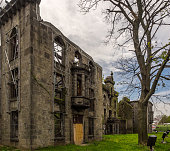 Abandoned Smallpox Hospital on Roosevelt Island, New York.  Now on the Register of Historic Places.