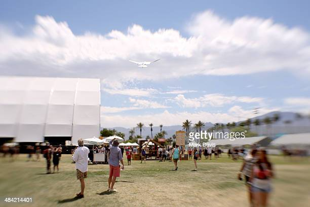Smart Bird art installation by Festo is seen during day 1 of the 2014 Coachella Valley Music Arts Festival at the Empire Polo Club on April 11 2014...