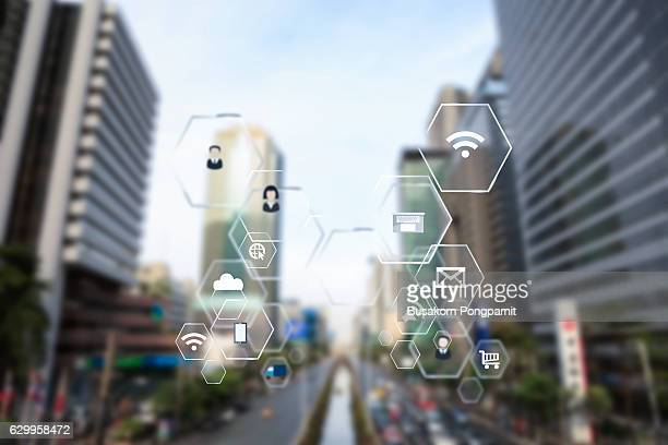 Smart city and vehicles, wireless communication network, internet of things