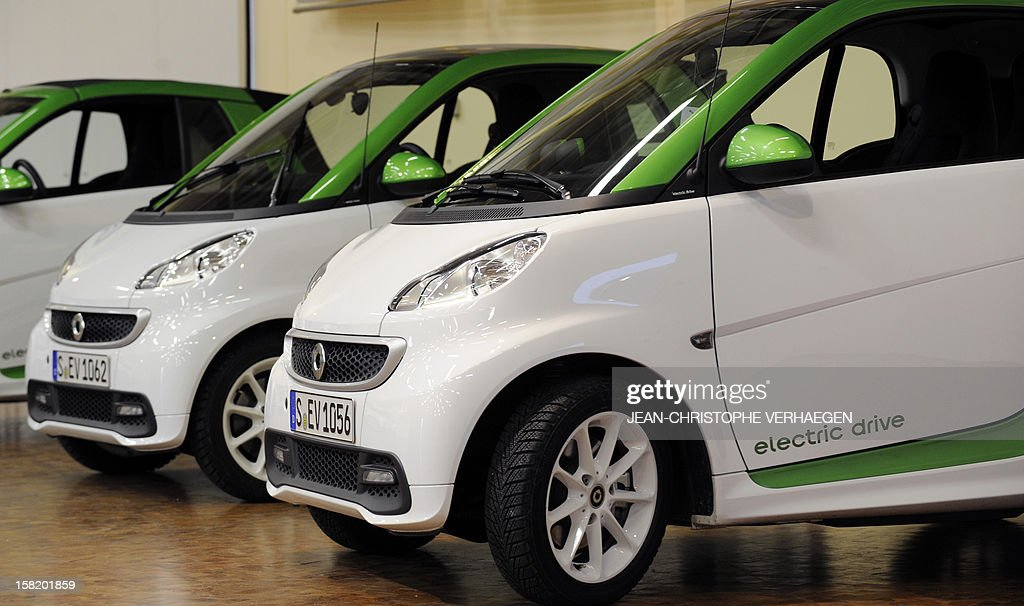 Smart ForTwo Electric Drive car are pictured at the Smart factory of Hambach, eastern France, on December 11, 2012. The third-generation Smart electric drive is scheduled to be launched in the U.S. and Europe by the second quarter of 2013 and Smart plans to mass produce the electric car with availability in 30 markets worldwide. VERHAEGEN