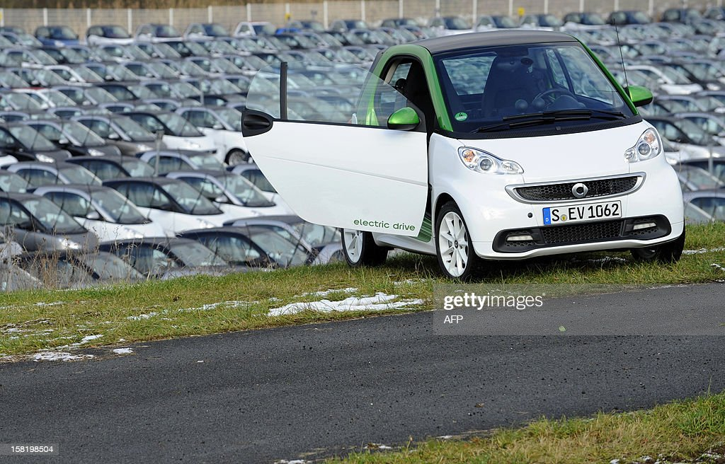 A Smart ForTwo Electric Drive is pictured at the Smart car factory of Hambach, eastern France, on December 11, 2012. The third-generation Smart electric drive is scheduled to be launched in the U.S. and Europe by the second quarter of 2013 and Smart plans to mass produce the electric car with availability in 30 markets worldwide. VERHAEGEN