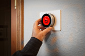Smart Home: Digital thermostat heating and cooling automation system