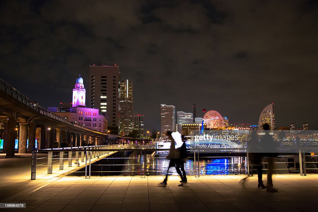 Smart illumination Yokohama : Foto de stock