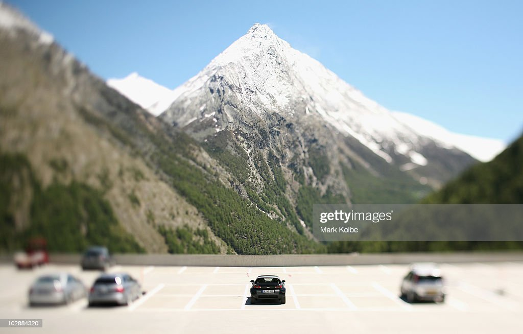A smart is seen parked in the Saas-Fee car park on the edge of the village on May 31, 2010 in Saas-Fee, Switzerland. Petrol run vehicles have not been allowed to enter the village since 1951.