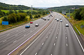 M1 four lane smart motorway in West Yorkshire'n
