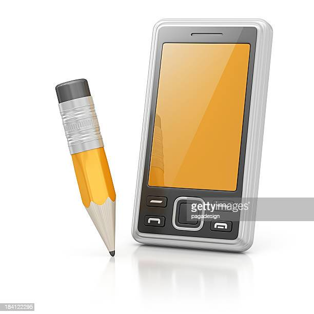 smart phone and pencil