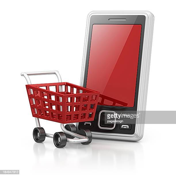smart phone and shopping cart