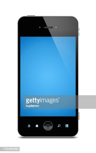 Smart phone (Clipping path) isolated on white background