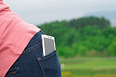 Smart Phone in a pocket.