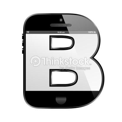 telefone inteligente letras em forma de desenho de letra b foto de