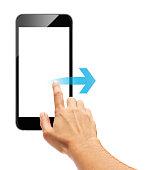Smart phone touch - scroll arrow
