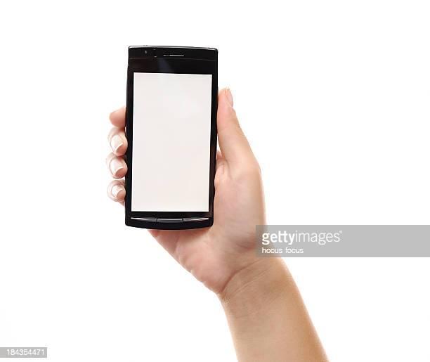 Smartphone mit einem leeren Bildschirm