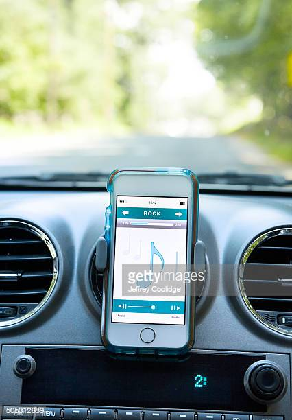 Smart Phone with Music in Car