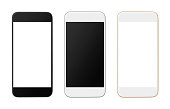Smart Phones Variation isolated on white