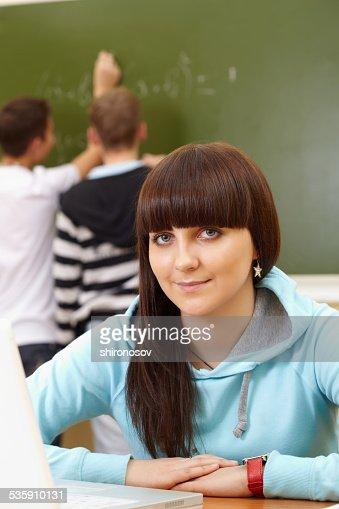 Estudiante inteligente : Foto de stock