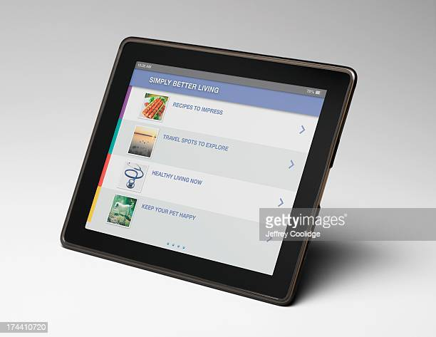 Smart Tablet on Gray