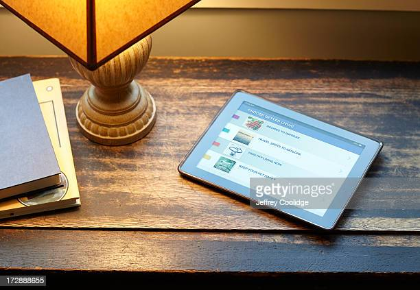 Smart Tablet on Table