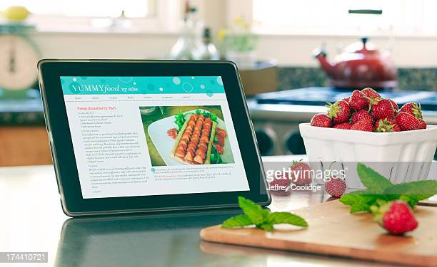 Smart Tablet With Recipe