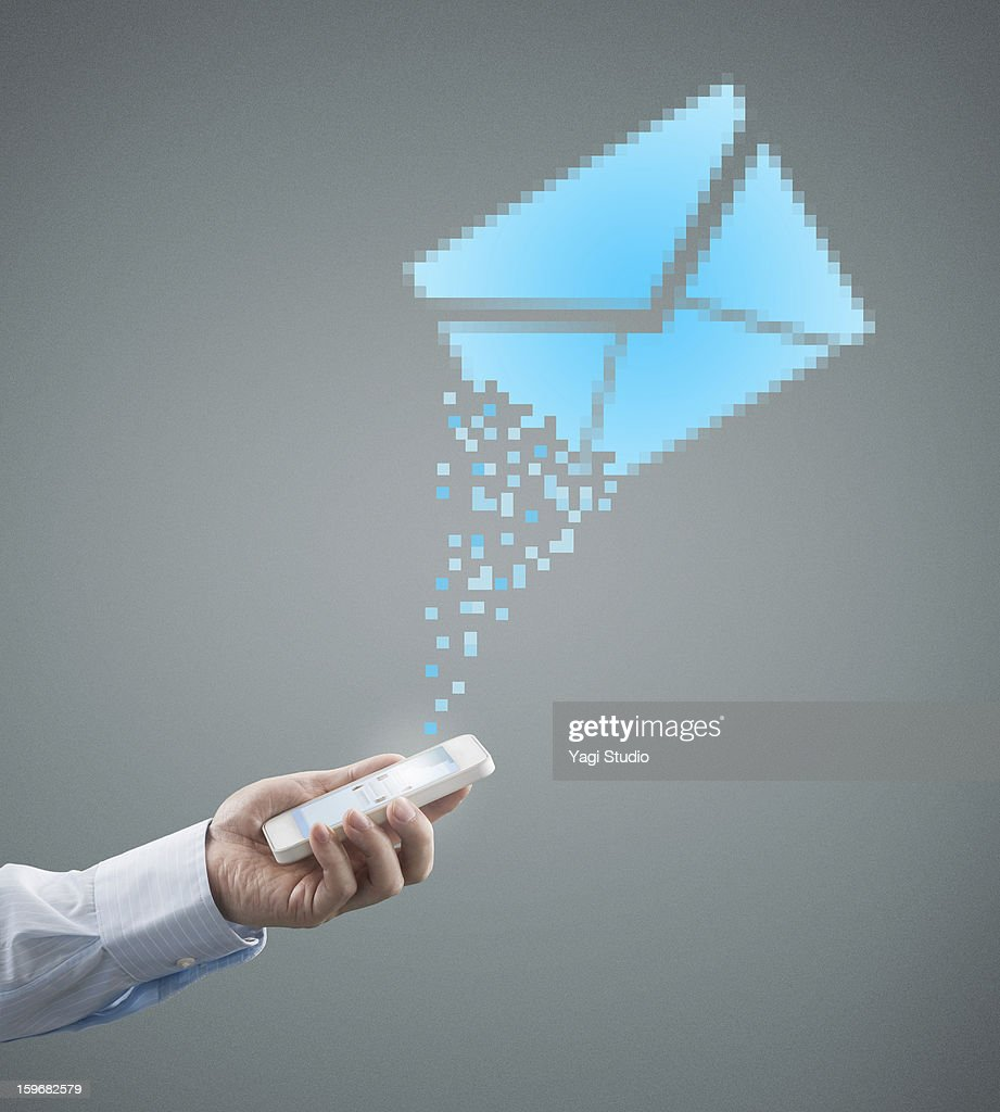 Smartphone and mail : Stock Photo