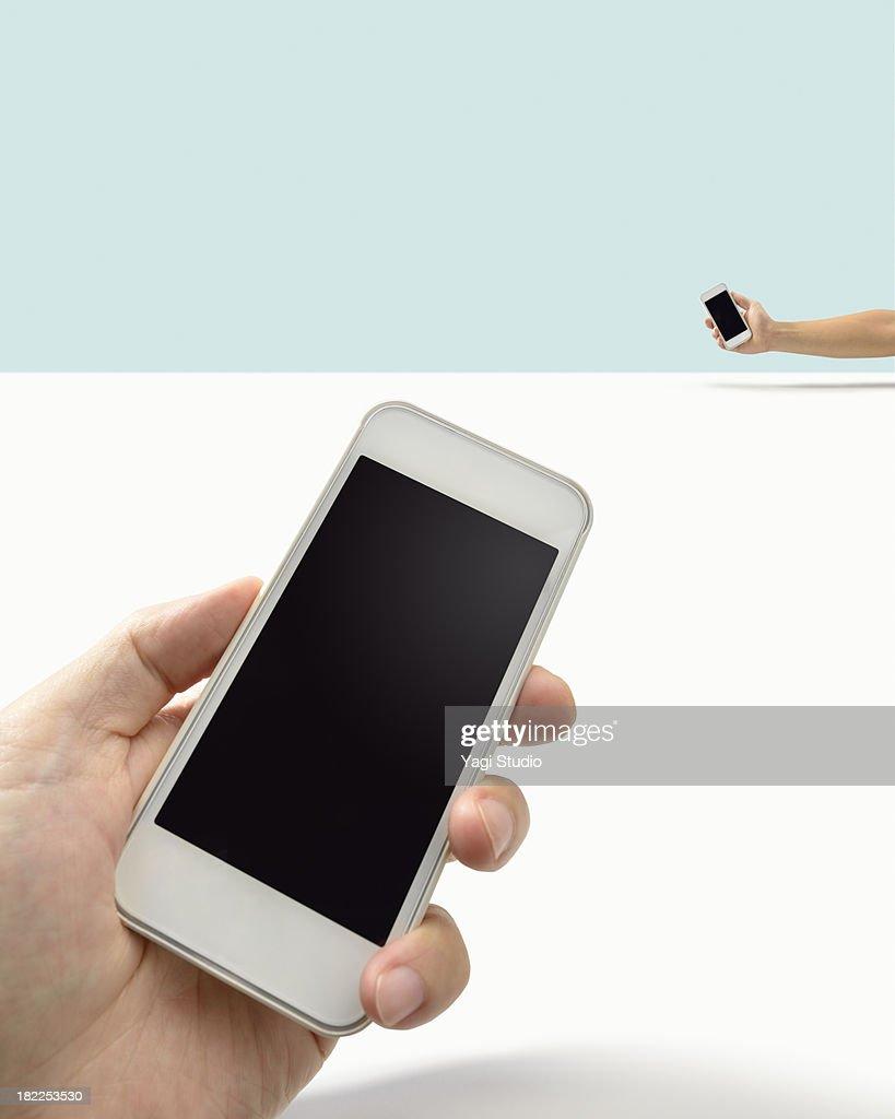 Smartphone and smartphone : Stock Photo