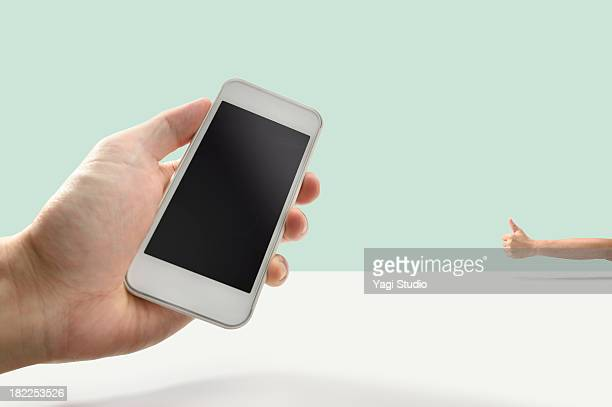 Smartphone and Thumb up