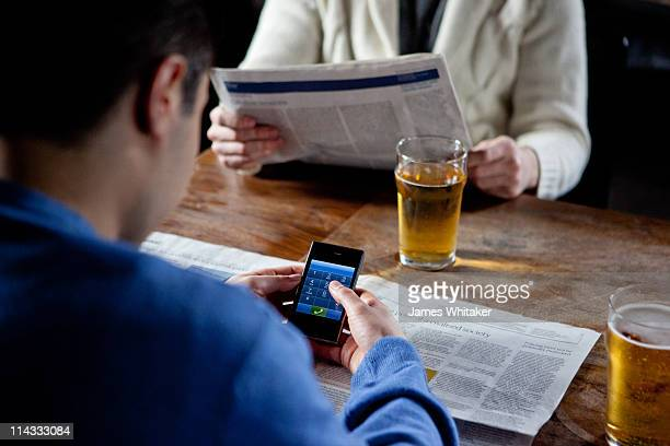 Smartphone in pub