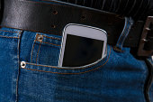 Cell phone in a pocket