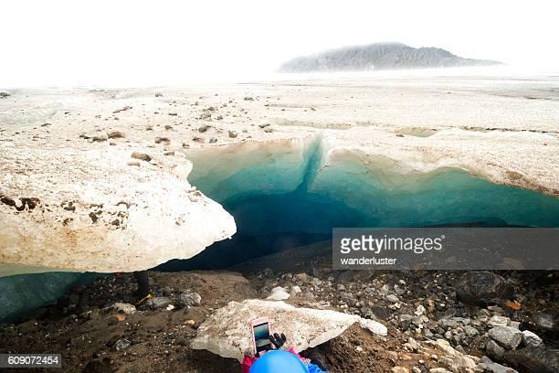 Smartphone photo of ice cave
