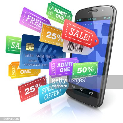 Smartphone shopping offers concept