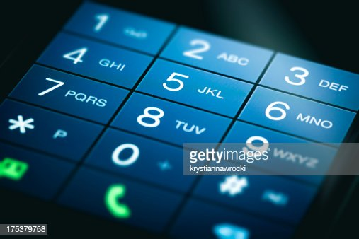 A smartphone touchscreen keypad