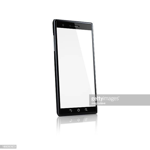 Smartphone with blank screen - side