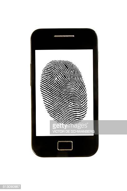 Smartphone with finger print