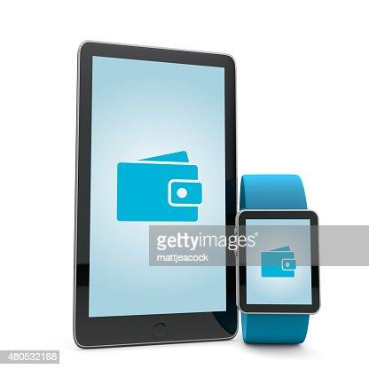 Portefeuille Smartwatch et téléphone : Photo