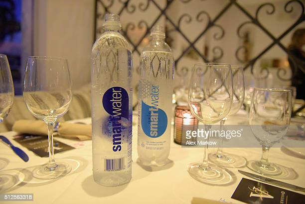 Smartwater on display at a Dinner Hosted By Marc Vetri And Giovanni Rocchio Part of the Taste Fort Lauderdale Seriesduring 2016 Food Network Cooking...