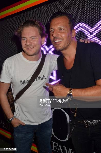 DJ Smash and Jean Roch Pedri attend the DJ Smash 'Russians With Love' Party at VIP Room on August 22 2011 Saint Tropez France