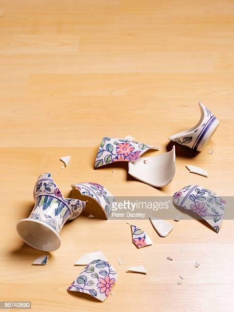 smashed antique vase