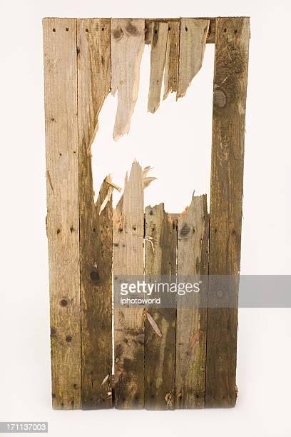 Smashed fence