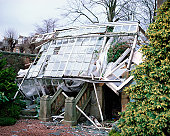 Smashed greenhouse