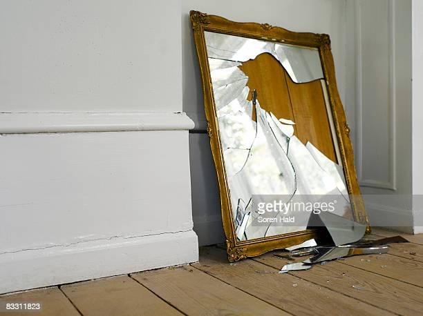 smashed mirror