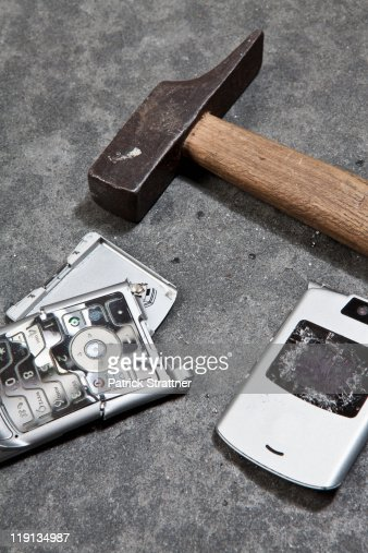 Cracked Phone Stock Photos and Pictures