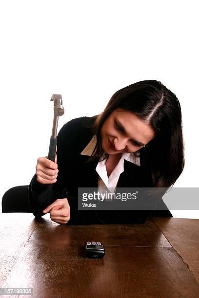 Smashing das Telefon