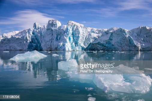 Smeerenburg Glacier in Svalbard