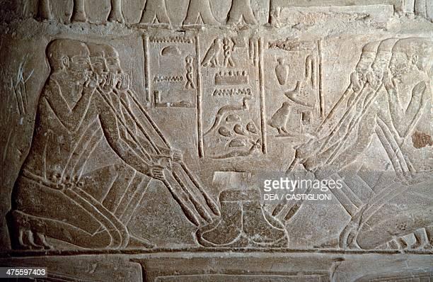 Smelting of gold embossed interior of the mastaba of Mereruka Saqqara Egyptian civilisation Old Kingdom Dynasty VI
