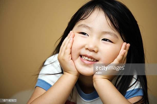 Smile of a Cute Asian Girl