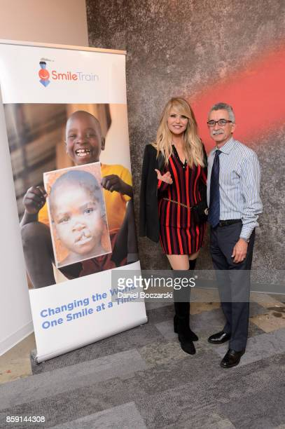 Smile Trains Goodwill Ambassador Christie Brinkley and Dr Alvaro Figueroa a member of Smile Trains Medical Advisory Board celebrated World Smile Day®...