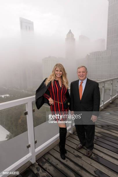 Smile Trains Goodwill Ambassador Christie Brinkley and US Senator Durbin lit up Chicago with smiles on World Smile Day® in Chicago at Two Prudential...